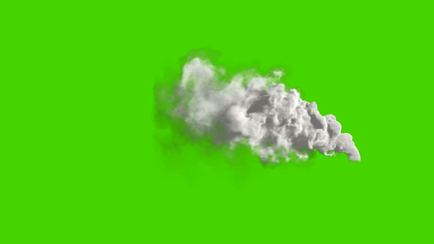 Air pollution. Power plant's smoke on green screen. Chimney flow smoke. Contamination, pollution causing global warming and climate change.  - 4K stock footage clip