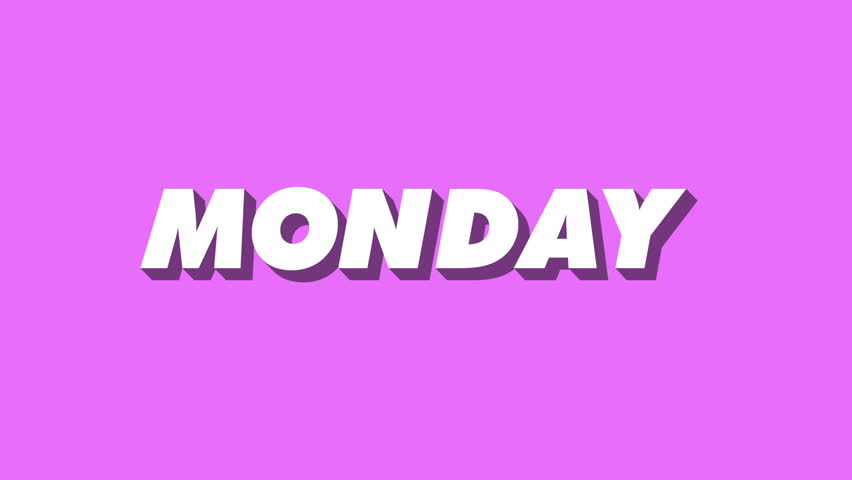 Monday Word An Isometric Tr...