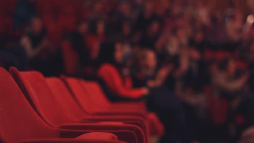 unrecognizable ,Blur Audience in the Theatre