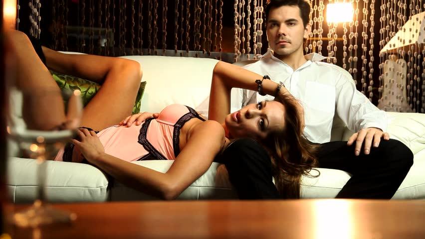 Beautiful  couple  - HD stock footage clip