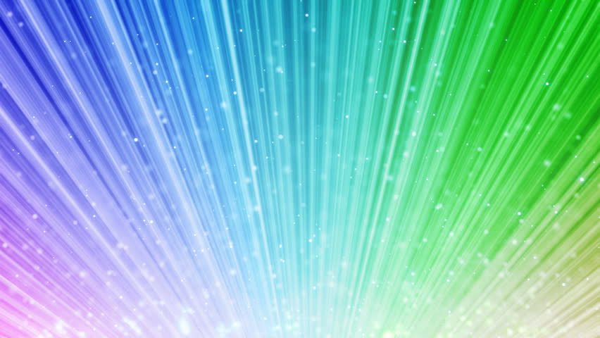 Rainbow Notes On Light Background Stock: Rainbow Loopable Background Light Beams And Flying