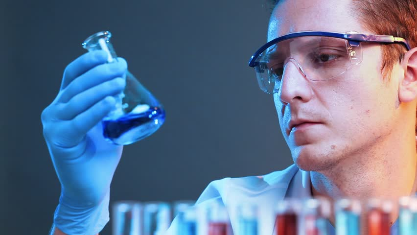 Scientist finding a cure - HD stock footage clip