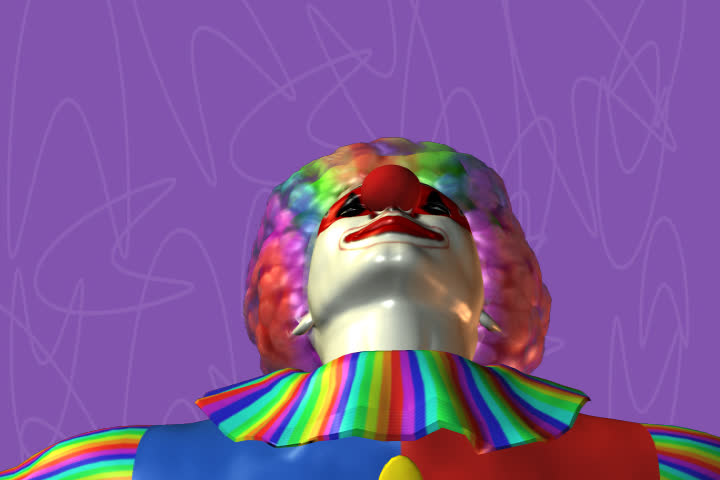 laughing clown against a background- head and shoulders - SD stock footage clip