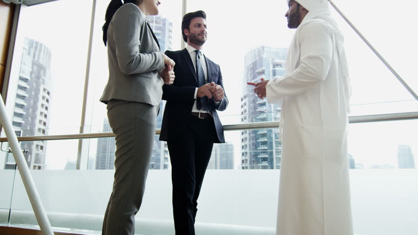 male female Middle East international business team insurance trade oil growth