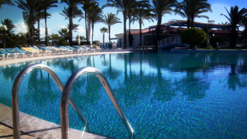 Paradise Pool - HD stock footage clip