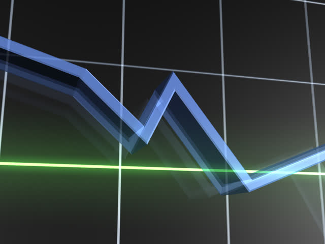 Losing Value Graph PAL - SD stock footage clip