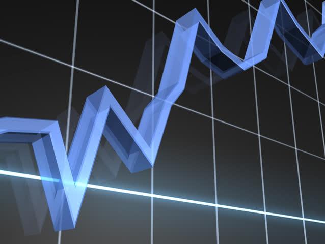 Rising Markets Chart NTSC - SD stock video clip