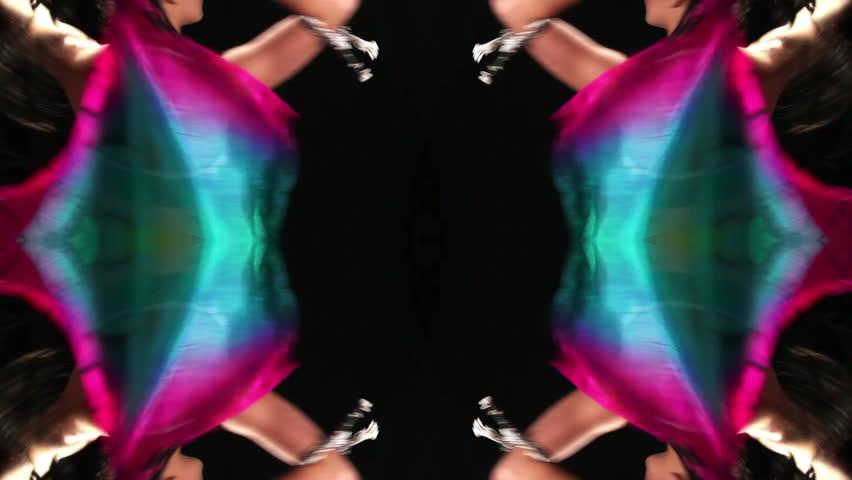 beautiful alternative belly dancer - HD stock footage clip
