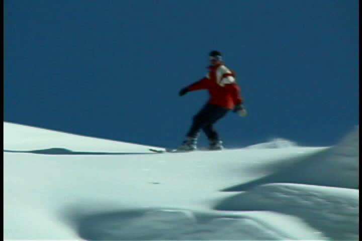 Snowboarder - SD stock video clip