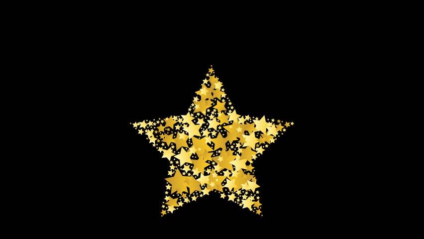 blazing abstract comet shooting gold star flash animation