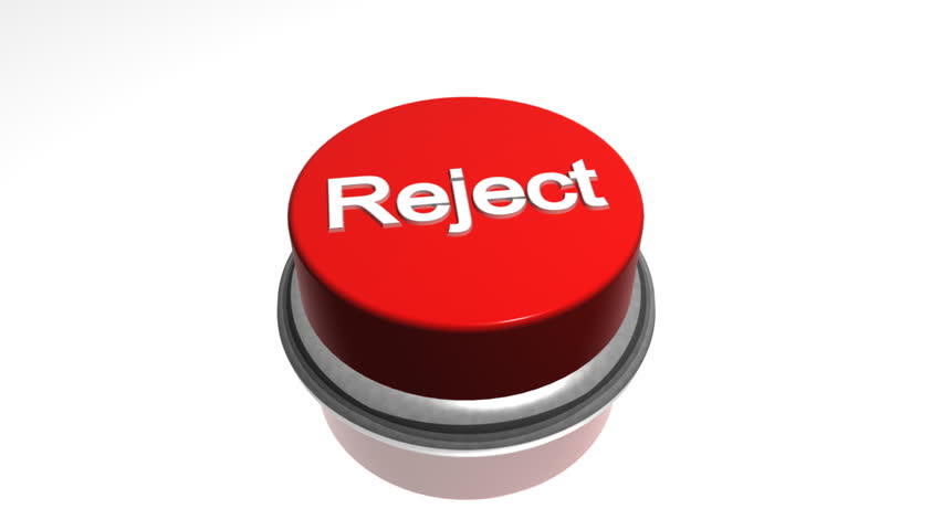 """Reject Button Red """" reject """" button on a white background stock ..."""