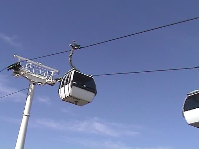 Cable car working
