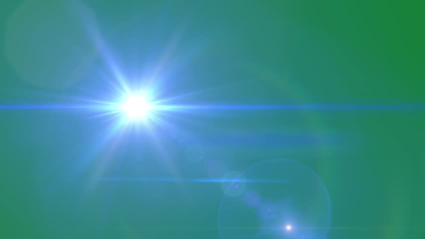 Red Lens Flare On Green Screen. Light Animation Effect ...