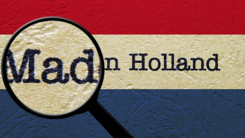 Magnifying glass on made in Holland