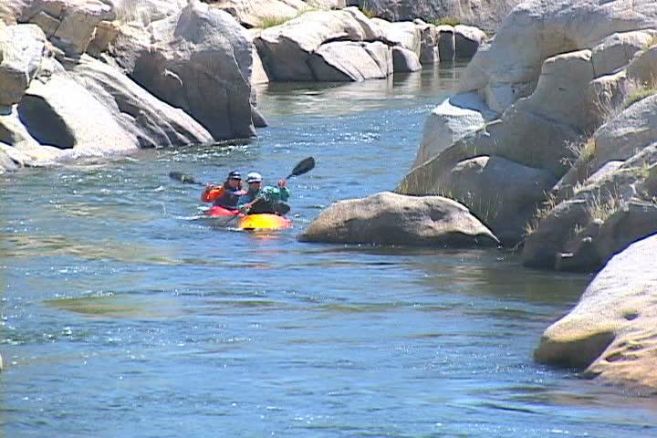 Kayaking - SD stock footage clip