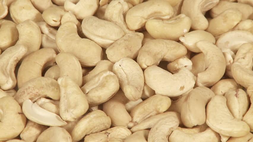 Cashew nuts background closeup  - HD stock video clip