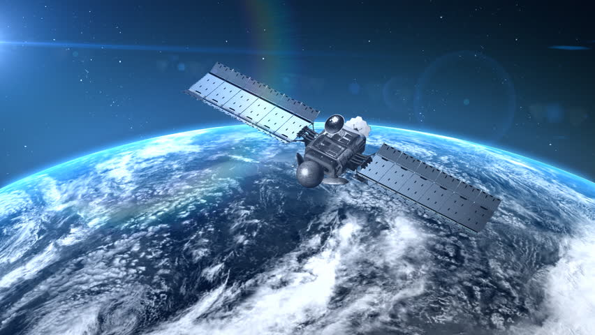 Beautiful View Of Satellite Orbiting The Earth Hd 1080