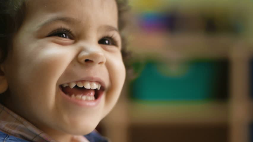Baby girl laughing, clapping hands and having fun at kindergarten. Child, children, education, school | Shutterstock HD Video #1116382