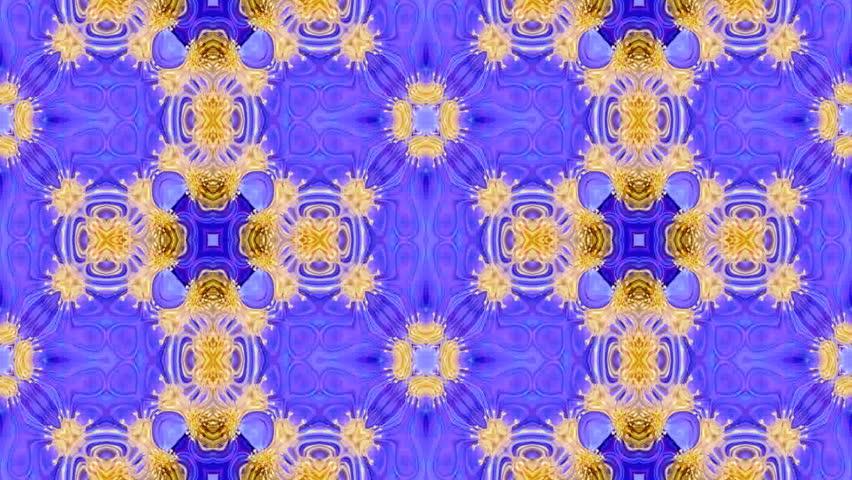 Multicolor decorative video - kaleidoscope - HD stock video clip