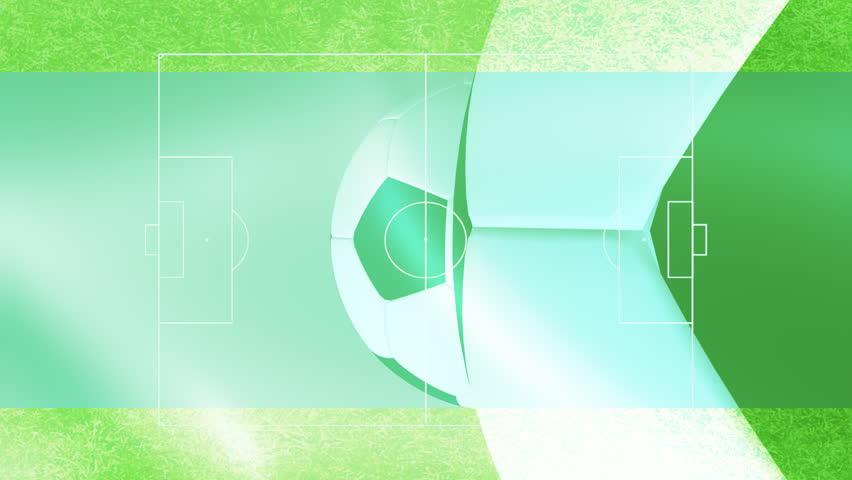 Soccer background motion design soccer field soccer balls  - HD stock video clip