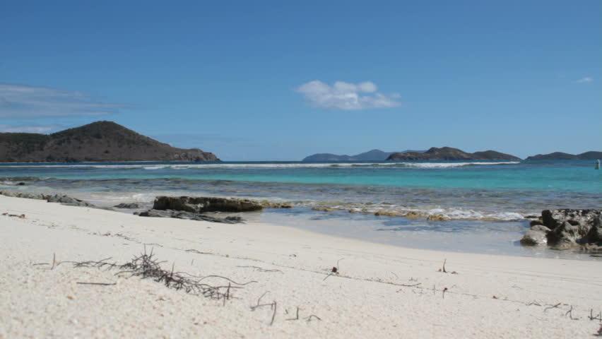 Tropical Paradise Caribbean Beach - HD stock video clip