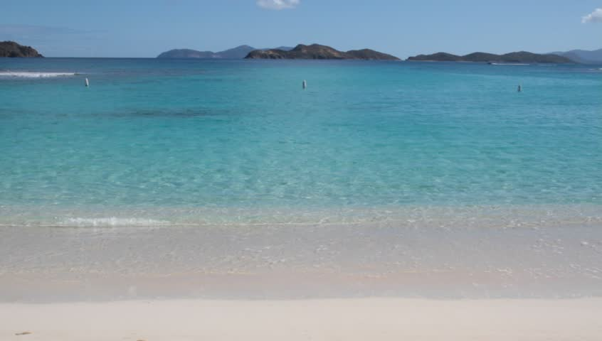 Exotic White Sand Beach - HD stock footage clip