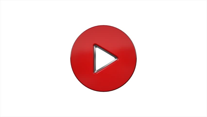 Red play icon button logo symbol animation
