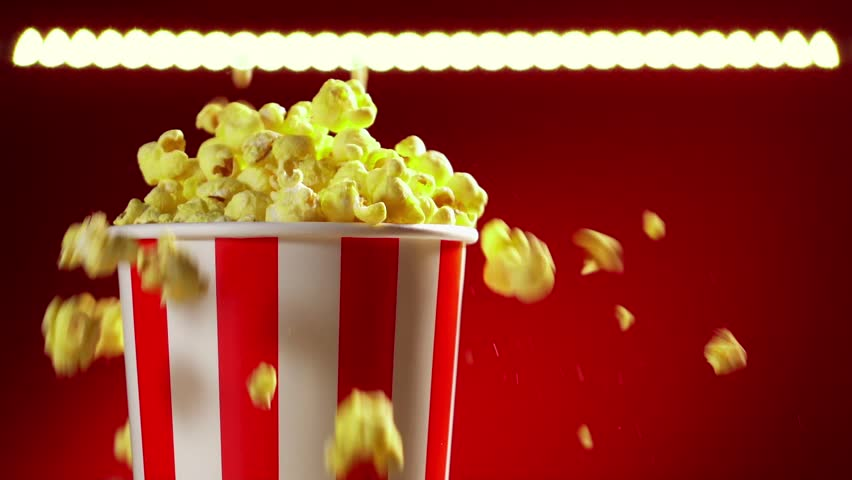 Two Cups With Popcorn Close Up Stock Footage Video 3459194 ...