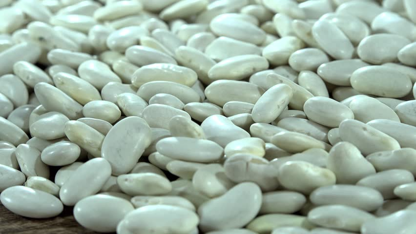 White Beans (seamless loopable) as detailed 4K UHD footage