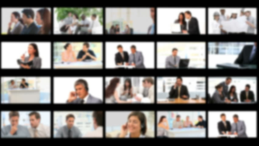Montage of businessmen working together at the office - HD stock footage clip