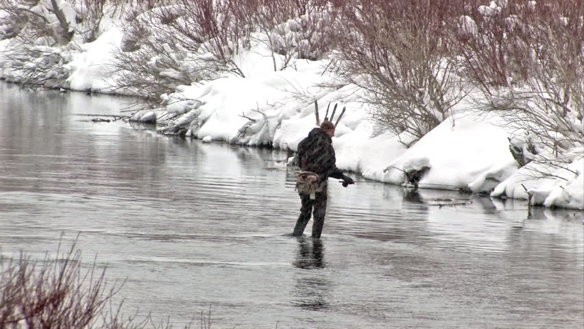 Video of a fisherman fly fishing in provo river central for Fishing in cold weather