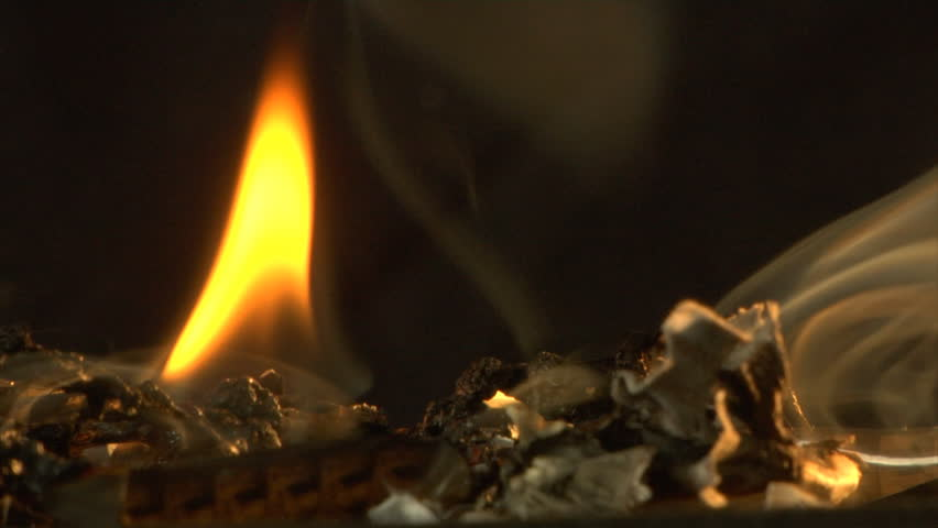 burning 8mm film - HD stock video clip