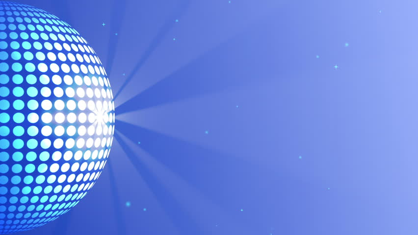Abstract Glowing Ball With Strokes of Light on Starry Sky Background. Seamless Loop.