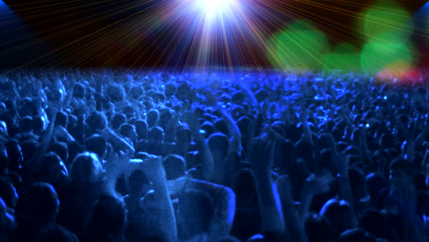 real concert crowd dance - HD stock footage clip