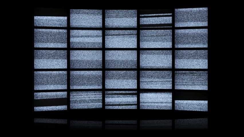 White noise led wall with final green screen - HD stock footage clip