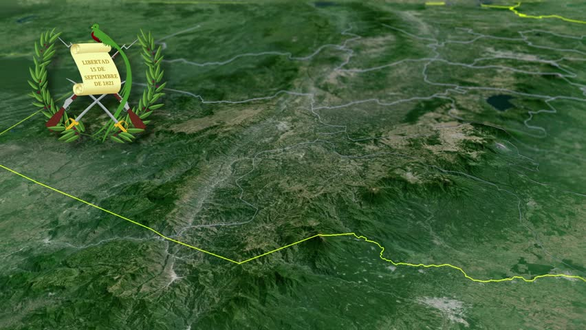 Quetzaltenango whit Coat of arms animation map