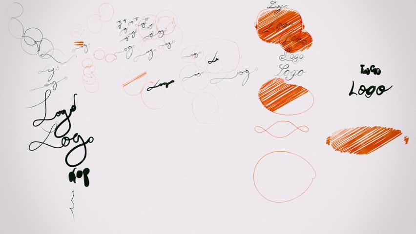 Graphic Design Concept: Logo Design Process Version 2