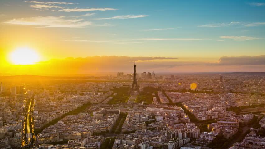 Paris august 3rd 2013 time lapse footage of sunset for Piscine montparnasse