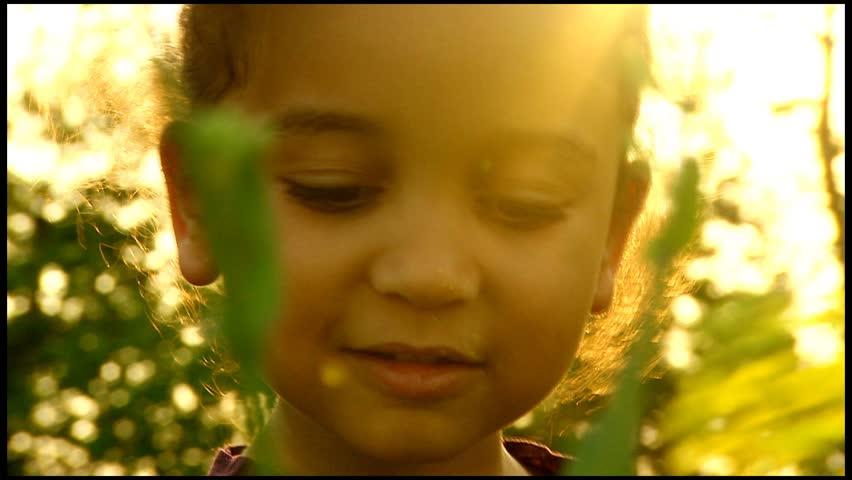 Beautiful girl in summer field of flowers - HD stock video clip