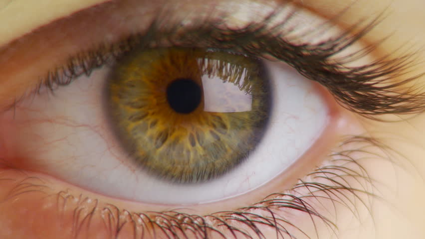 Close-up of woman's eye - HD stock video clip