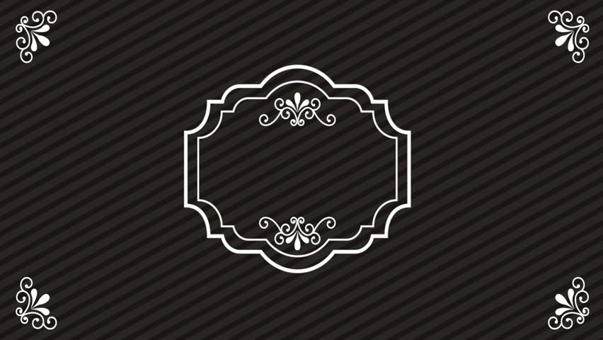 Ornament classic background, Video animation  HD1080