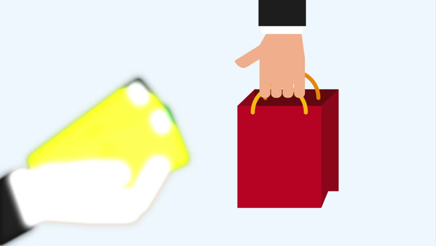 Shopping icon design, Video Animation HD1080