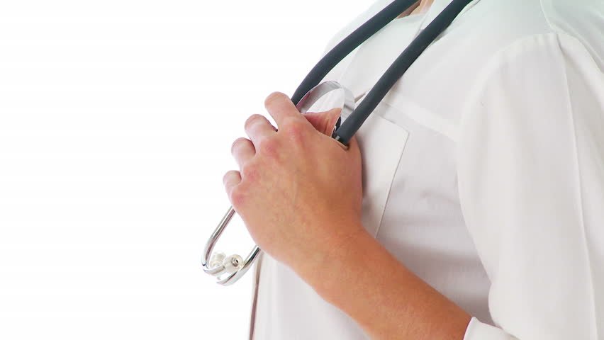 Close up of hand holding stethoscope - HD stock video clip