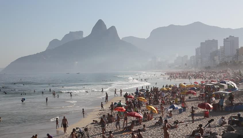 Copacabana Beach June 21, 2011 - HD stock footage clip