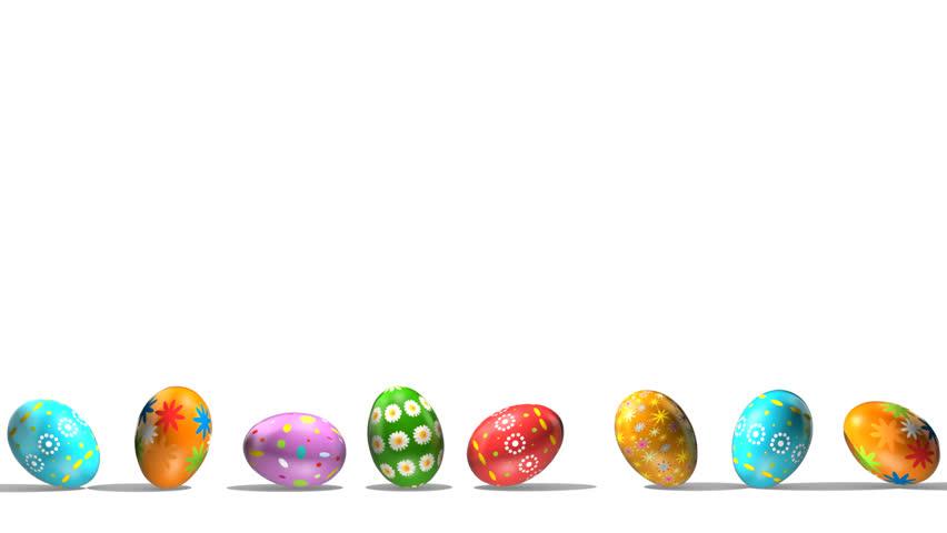 Rolling Eggs Loop.  With alpha matte. | Shutterstock HD Video #129730