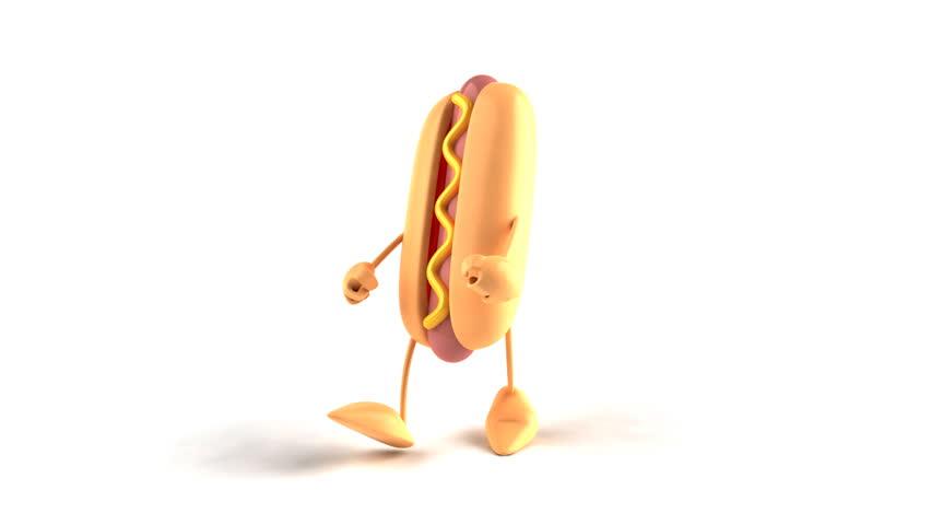 Hotdog dancing hip hop - HD stock video clip