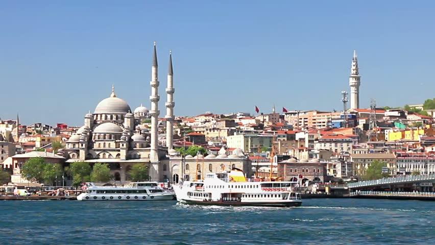 Eminonu Harbor, Istanbul, Turkey  - HD stock video clip