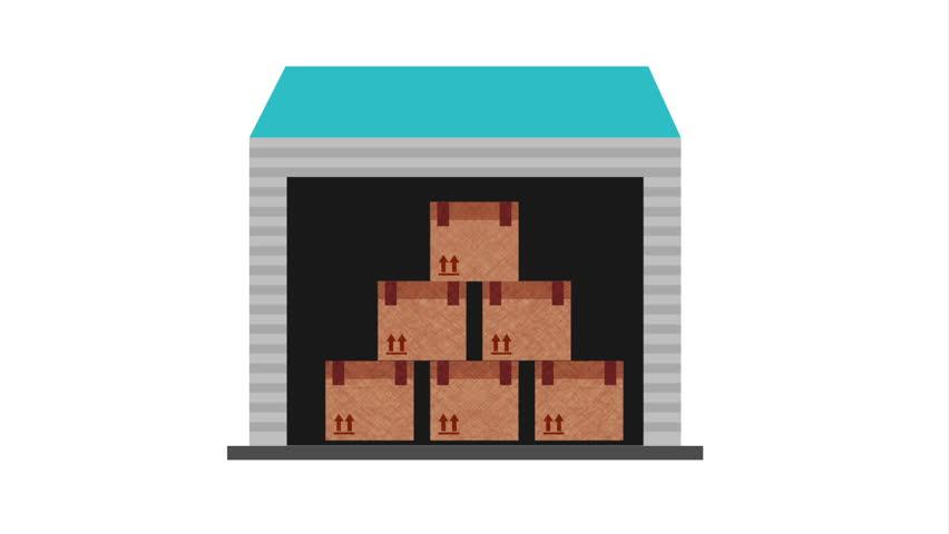 Storage icon design, video Animation HD1080