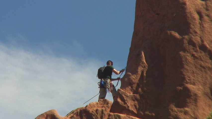 Rock Climbing In Garden Of The Gods Colorado Springs Stock Footage Video 132328 Shutterstock
