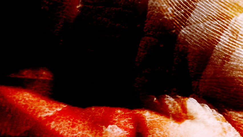 A close-up, strange composition of a human hand and skin. - HD stock video clip